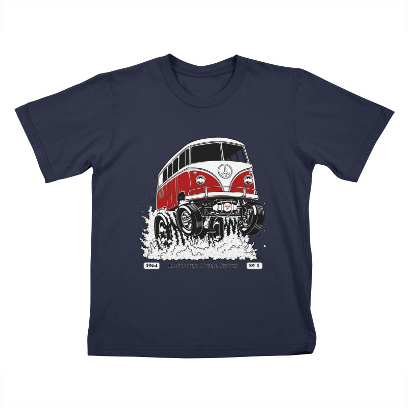 64 MicroBus Gasser - Clean Red Kids T-Shirt by screamnjimmy's Artist Shop