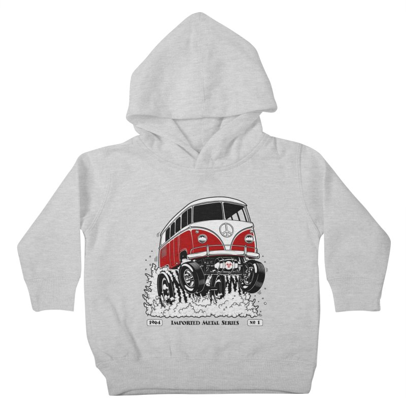 64 MicroBus Gasser - Clean Red Kids Toddler Pullover Hoody by screamnjimmy's Artist Shop