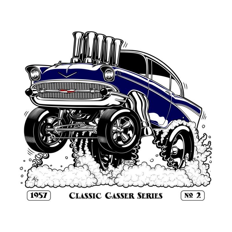 57 Classic Gasser – Clean Blue Men's Zip-Up Hoody by screamnjimmy's Artist Shop