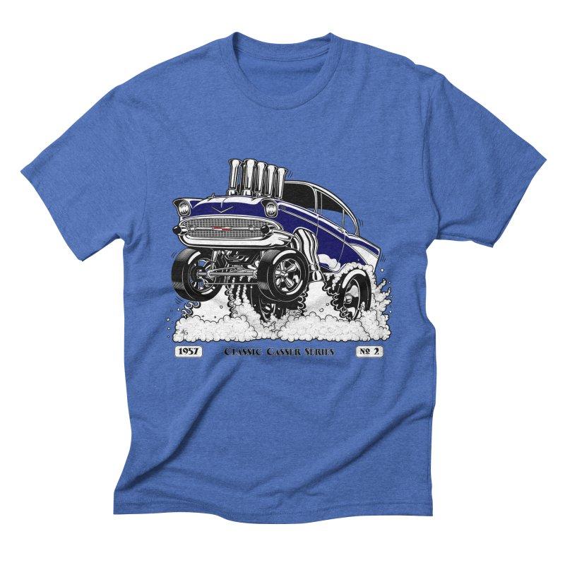 57 Classic Gasser – Clean Blue Men's T-Shirt by screamnjimmy's Artist Shop