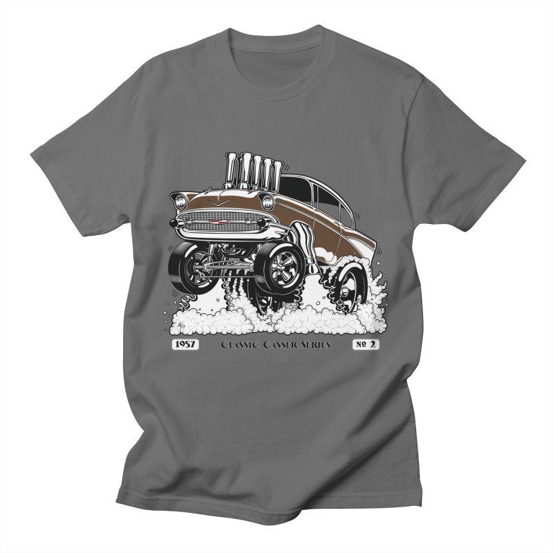 57 Classic Gasser – Clean Brown Men's T-Shirt by screamnjimmy's Artist Shop