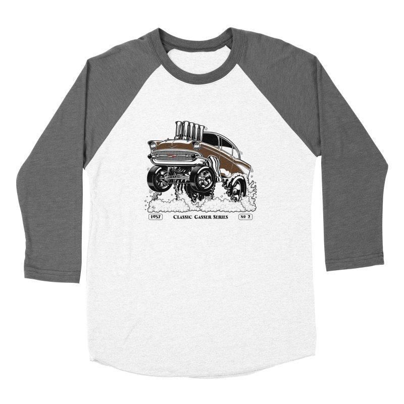 57 Classic Gasser – Clean Brown Women's Longsleeve T-Shirt by screamnjimmy's Artist Shop
