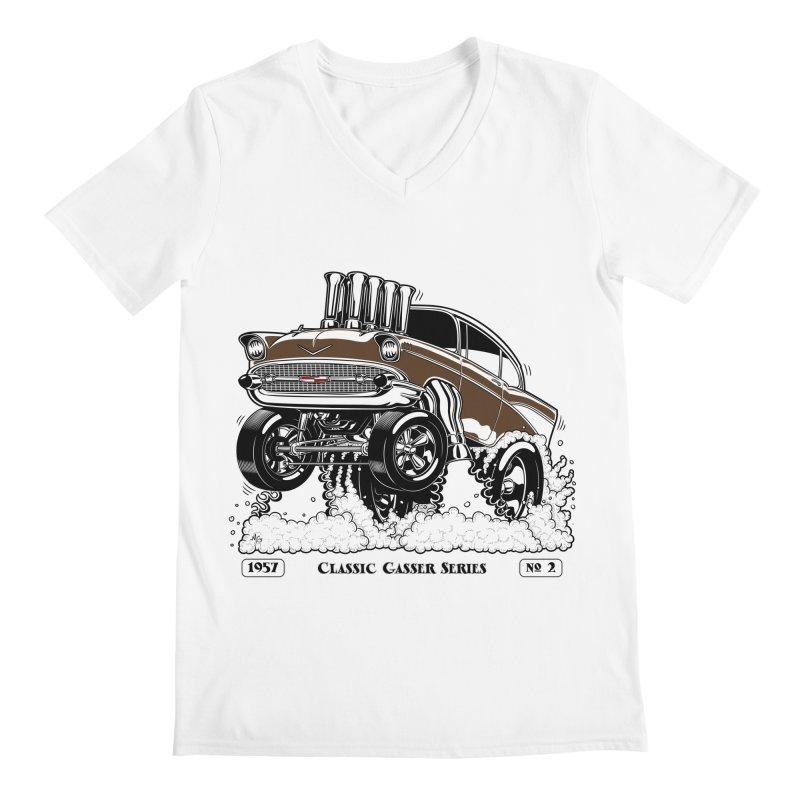 57 Classic Gasser – Clean Brown Men's V-Neck by screamnjimmy's Artist Shop