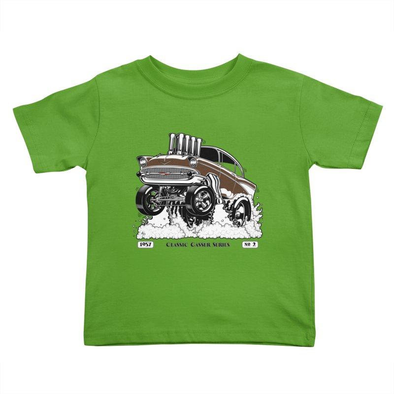 57 Classic Gasser – Clean Brown Kids Toddler T-Shirt by screamnjimmy's Artist Shop