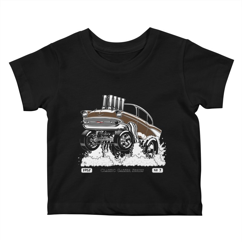 57 Classic Gasser – Clean Brown Kids Baby T-Shirt by screamnjimmy's Artist Shop