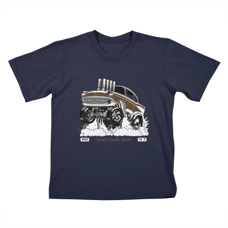 57 Classic Gasser – Clean Brown Kids T-Shirt by screamnjimmy's Artist Shop
