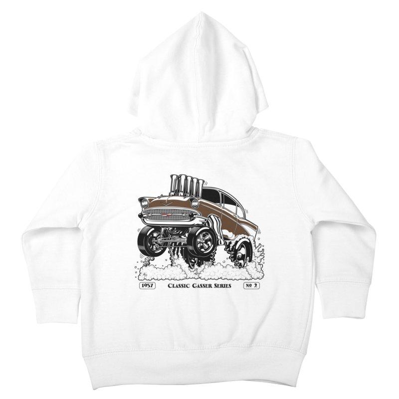 57 Classic Gasser – Clean Brown Kids Toddler Zip-Up Hoody by screamnjimmy's Artist Shop