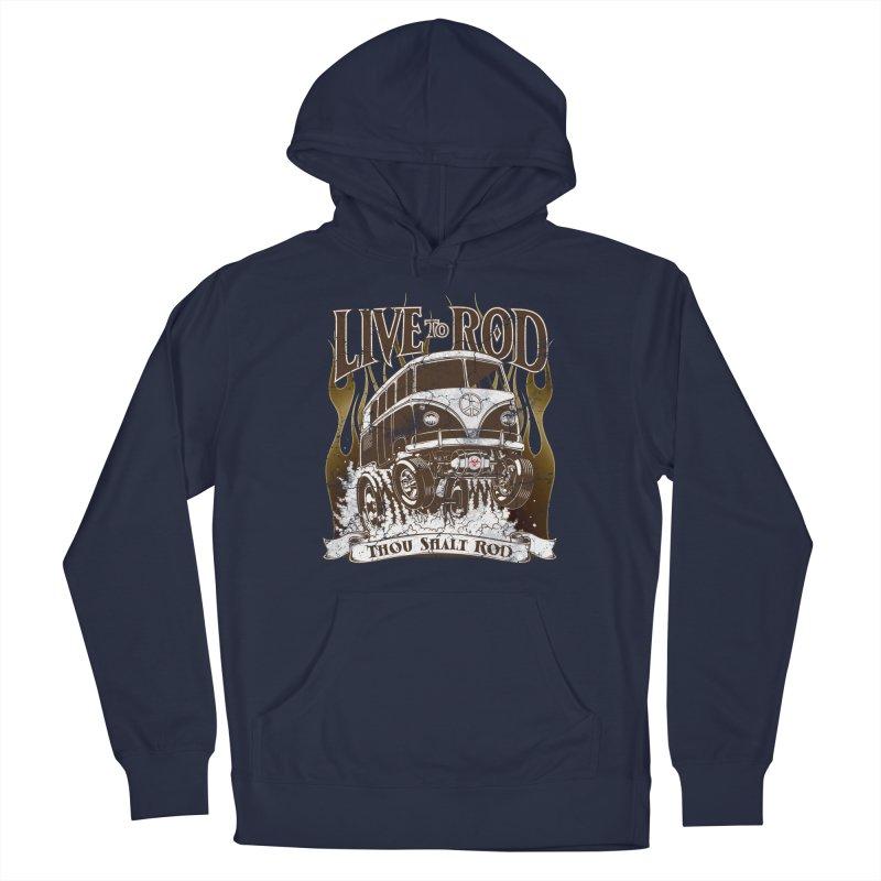 67' Microbus Gasser - Distressed brown Men's Pullover Hoody by screamnjimmy's Artist Shop