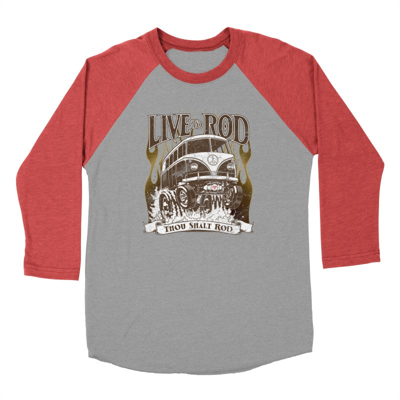 67' Microbus Gasser - Distressed brown Men's Longsleeve T-Shirt by screamnjimmy's Artist Shop