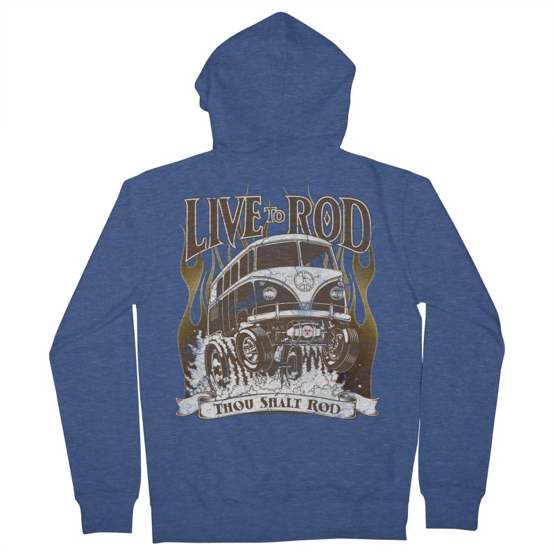 67' Microbus Gasser - Distressed brown Men's Zip-Up Hoody by screamnjimmy's Artist Shop