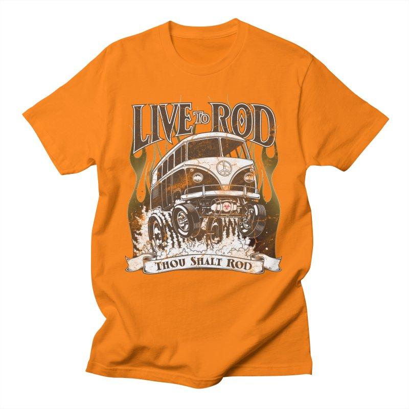 67' Microbus Gasser - Distressed brown Men's T-Shirt by screamnjimmy's Artist Shop