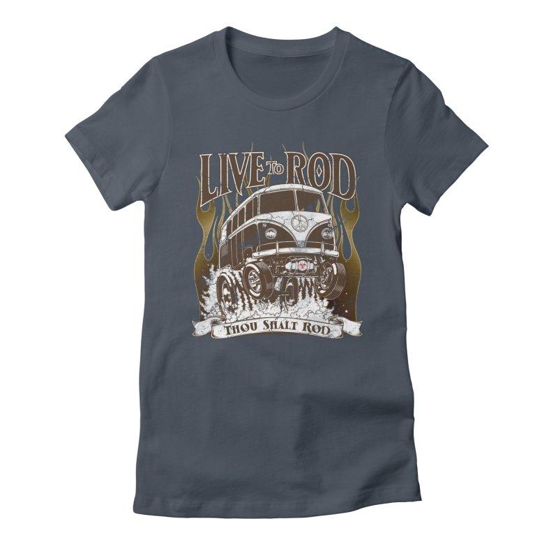 67' Microbus Gasser - Distressed brown Women's T-Shirt by screamnjimmy's Artist Shop