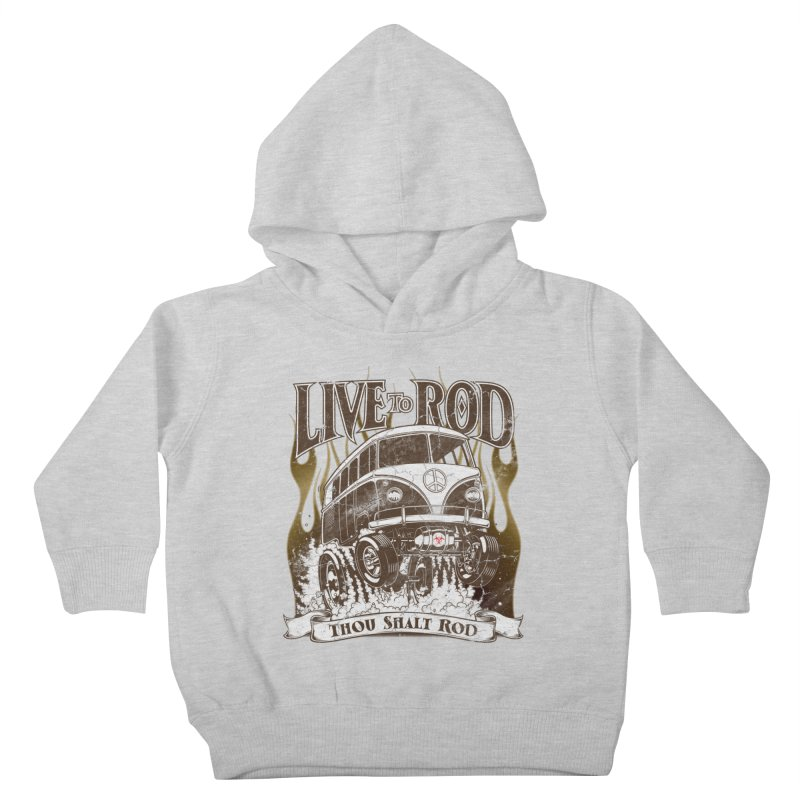 67' Microbus Gasser - Distressed brown Kids Toddler Pullover Hoody by screamnjimmy's Artist Shop