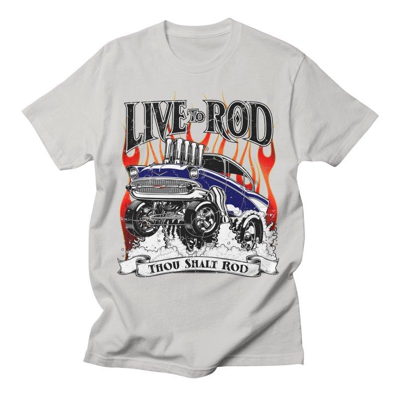 57' Chevy Gasser - Distressed Blue Men's T-Shirt by screamnjimmy's Artist Shop