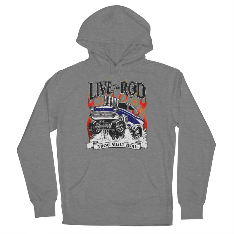 57' Chevy Gasser - Distressed Blue Women's Pullover Hoody by screamnjimmy's Artist Shop