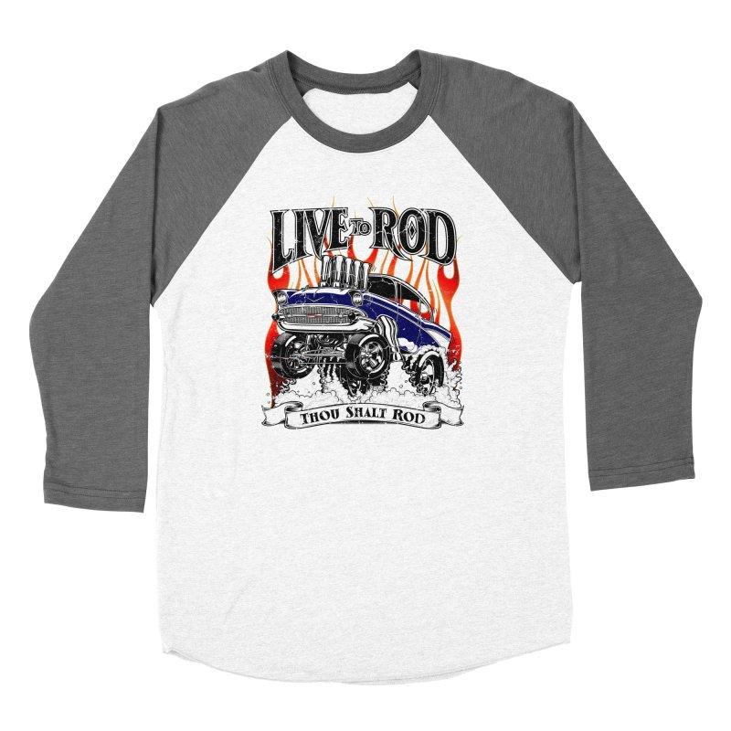 57' Chevy Gasser - Distressed Blue Men's Longsleeve T-Shirt by screamnjimmy's Artist Shop