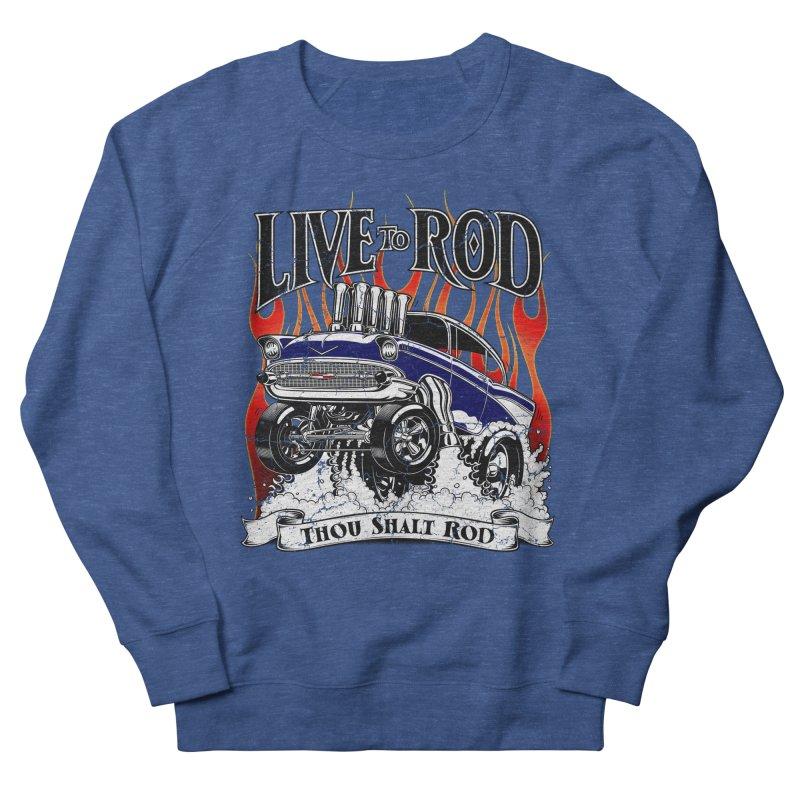 57' Chevy Gasser - Distressed Blue Men's Sweatshirt by screamnjimmy's Artist Shop