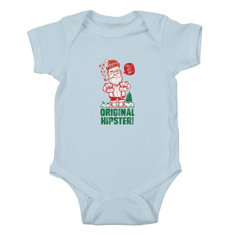Original Hipster! Kids Baby Bodysuit by scribblekid's Artist Shop