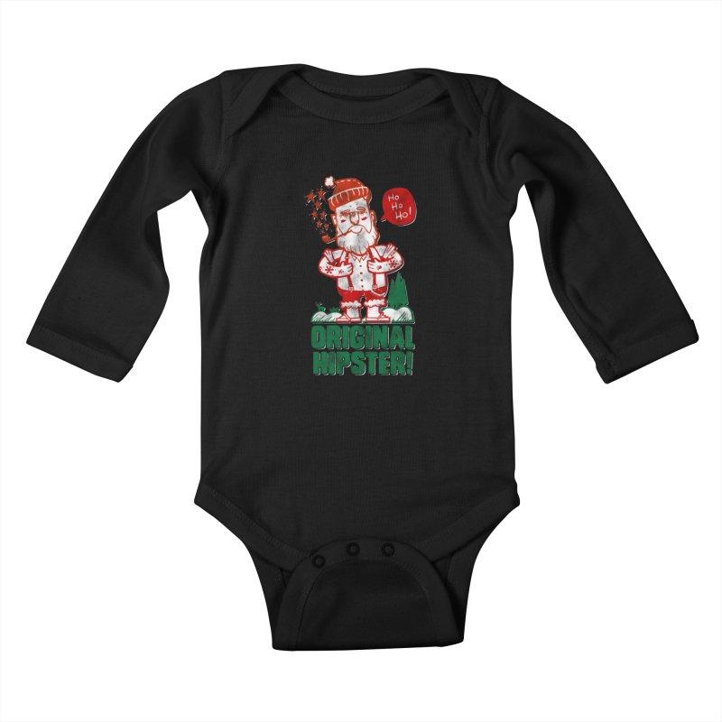 Original Hipster! Kids Baby Longsleeve Bodysuit by scribblekid's Artist Shop