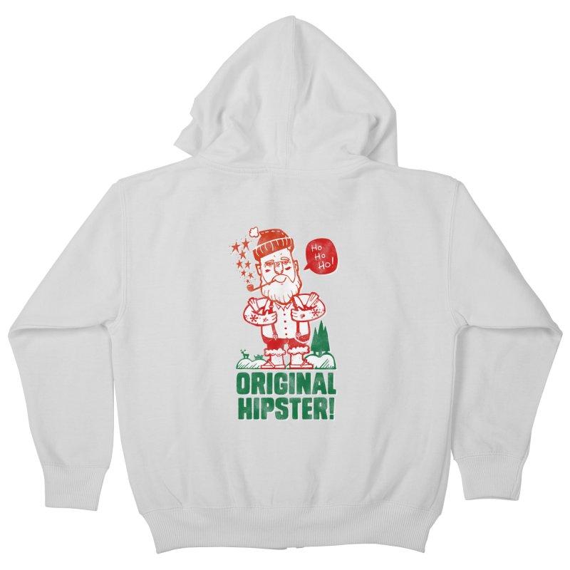 Original Hipster! Kids Zip-Up Hoody by scribblekid's Artist Shop