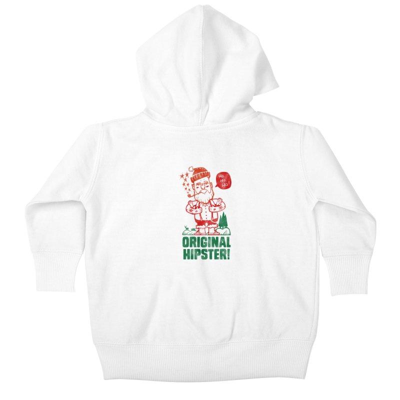 Original Hipster! Kids Baby Zip-Up Hoody by scribblekid's Artist Shop