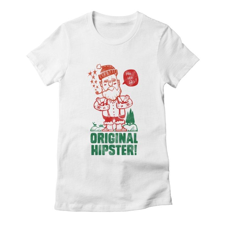 Original Hipster! Women's Fitted T-Shirt by scribblekid's Artist Shop