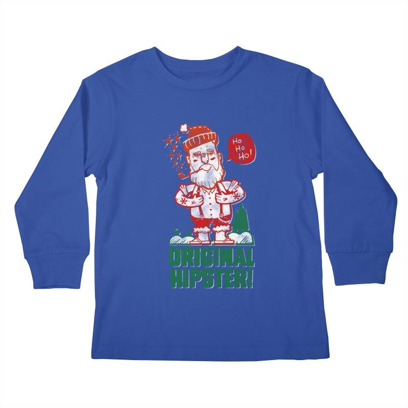Original Hipster! Kids Longsleeve T-Shirt by scribblekid's Artist Shop