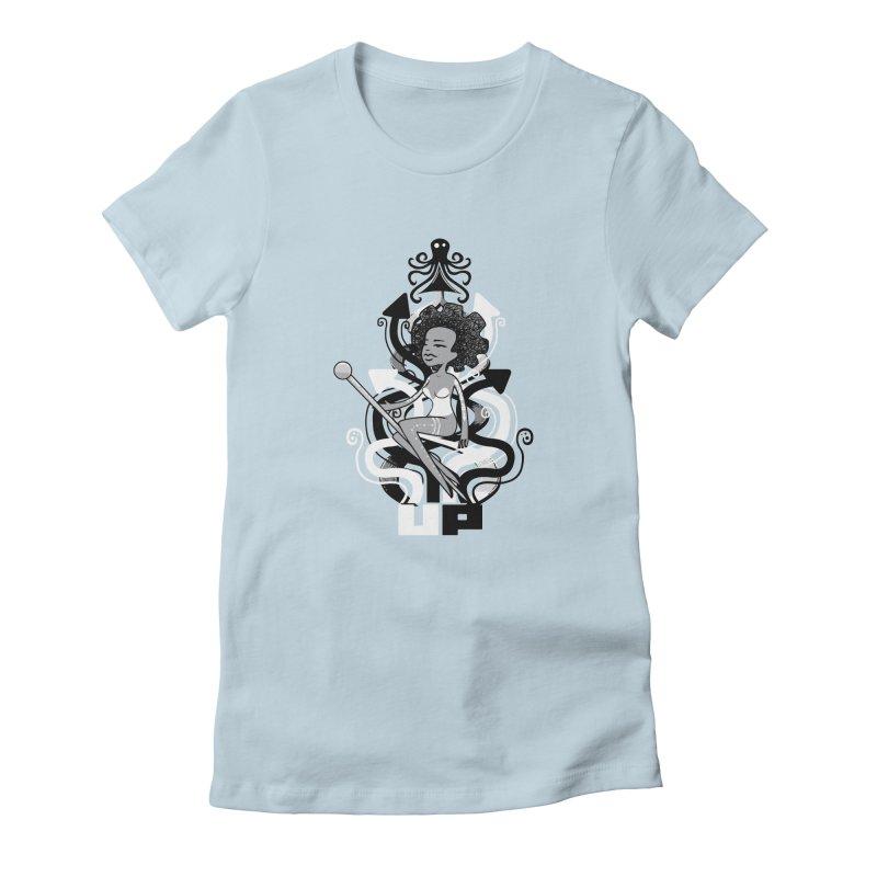 Pin Up Women's Fitted T-Shirt by scribblekid's Artist Shop