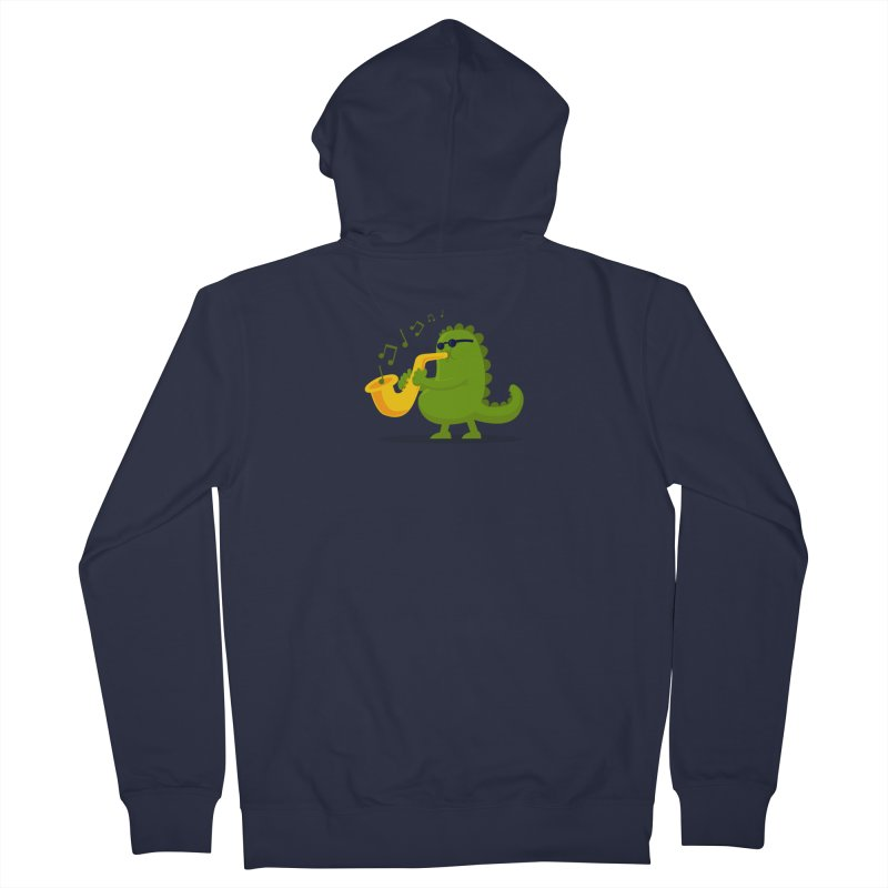 Dino Jazz Men's Zip-Up Hoody by scribblekid's Artist Shop