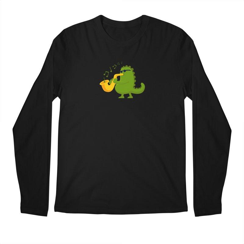 Dino Jazz Men's Longsleeve T-Shirt by scribblekid's Artist Shop