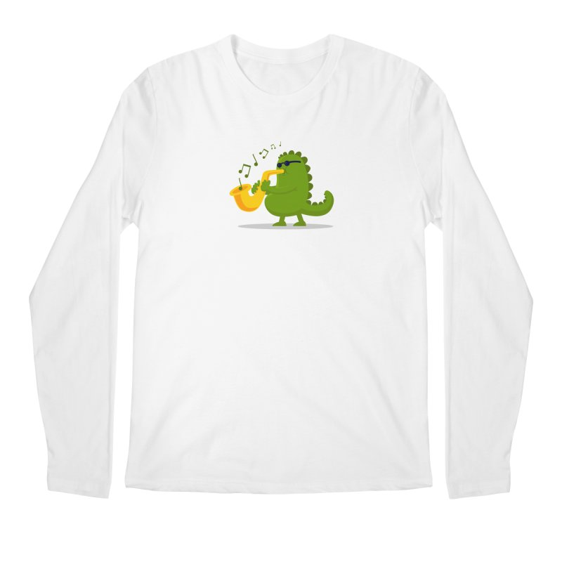 Dino Jazz Men's Longsleeve T-Shirt by scribblekid's Artist Shop