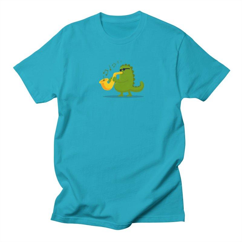 Dino Jazz Men's T-shirt by scribblekid's Artist Shop