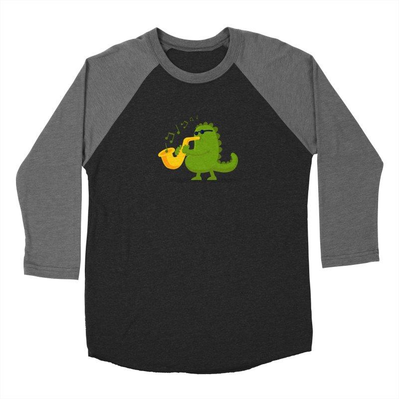 Dino Jazz Women's Baseball Triblend T-Shirt by scribblekid's Artist Shop
