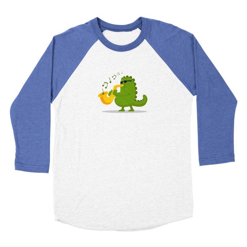 Dino Jazz Men's Baseball Triblend T-Shirt by scribblekid's Artist Shop