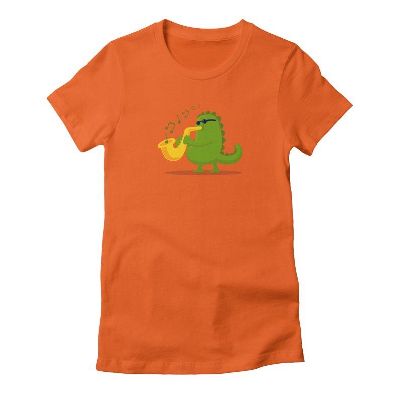 Dino Jazz Women's Fitted T-Shirt by scribblekid's Artist Shop