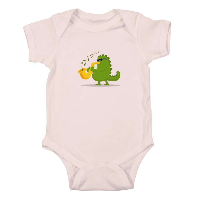 Dino Jazz Kids Baby Bodysuit by scribblekid's Artist Shop
