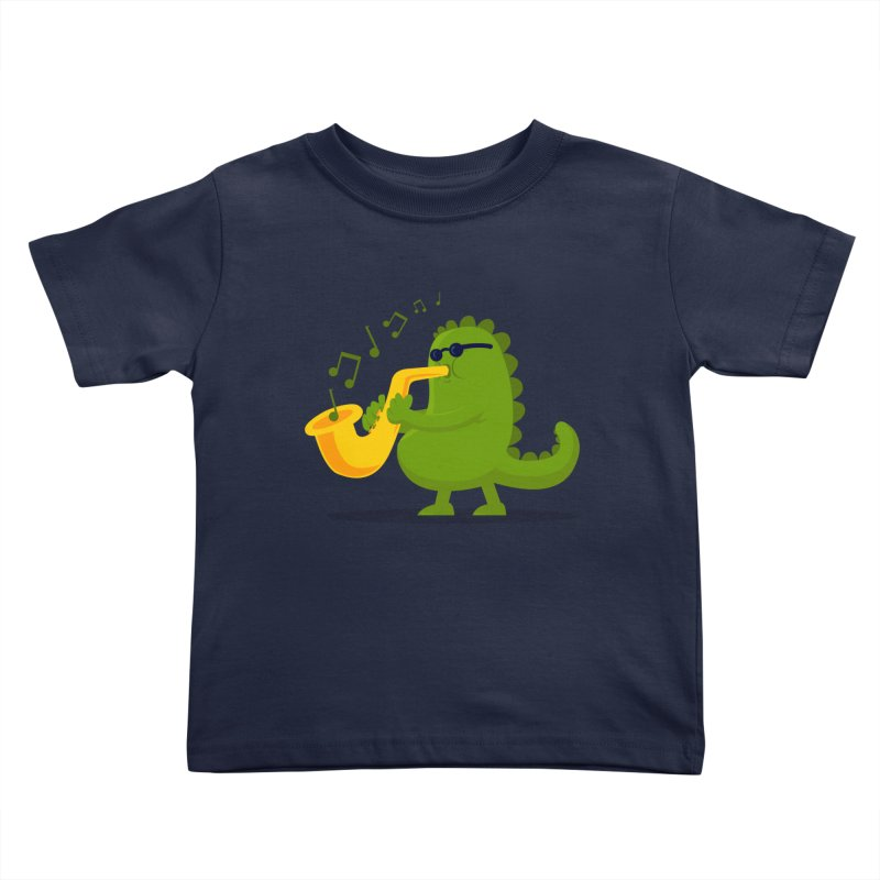Dino Jazz Kids Toddler T-Shirt by scribblekid's Artist Shop