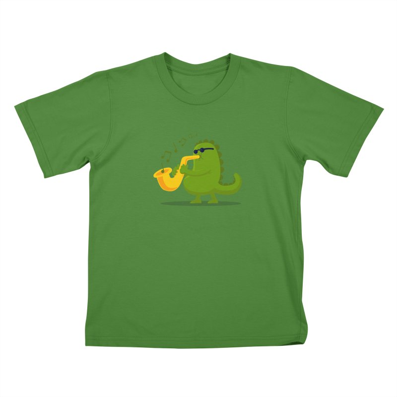 Dino Jazz Kids T-shirt by scribblekid's Artist Shop
