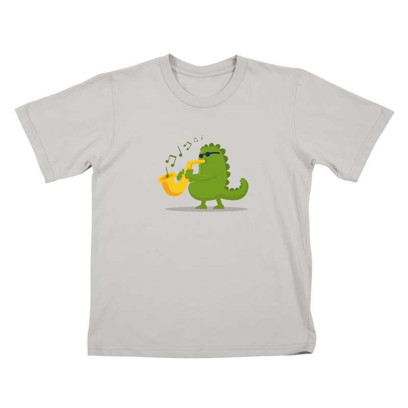 Dino Jazz Kids T-shirt by scribblekid's Artist Shop