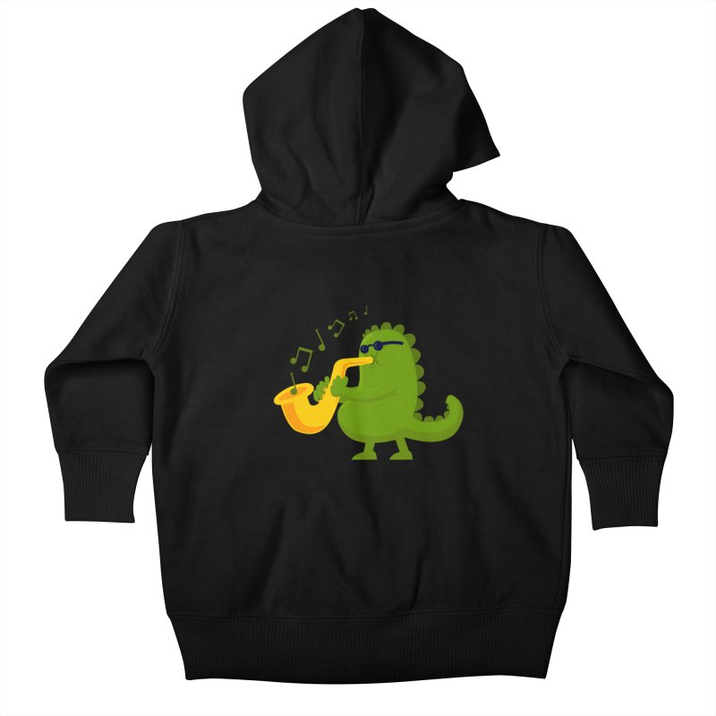 Dino Jazz Kids Baby Zip-Up Hoody by scribblekid's Artist Shop