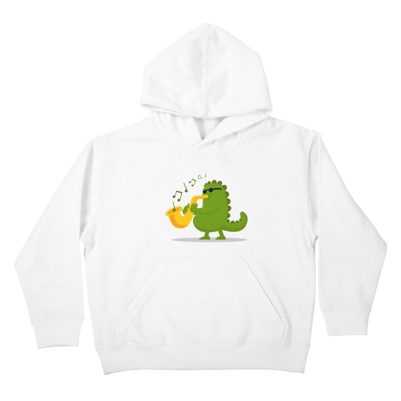 Dino Jazz Kids Pullover Hoody by scribblekid's Artist Shop