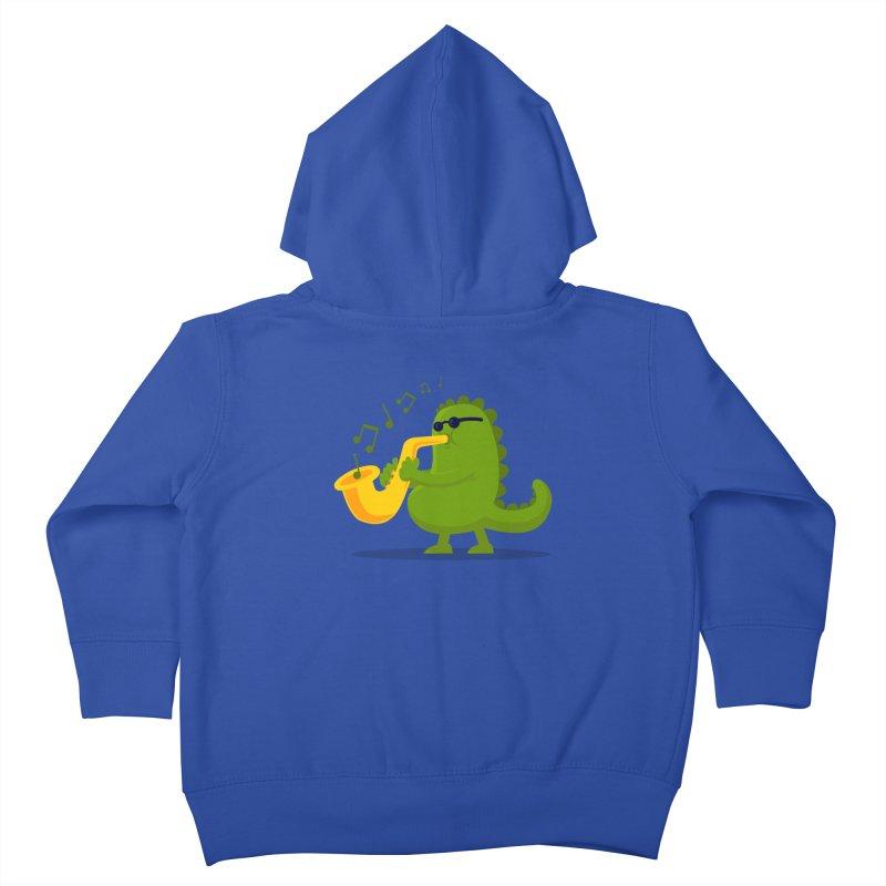 Dino Jazz Kids Toddler Zip-Up Hoody by scribblekid's Artist Shop