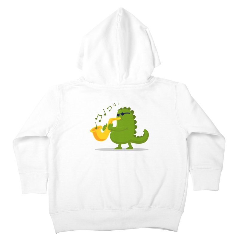 Dino Jazz Kids Toddler Zip-Up Hoody by scribblekid's Artist Shop