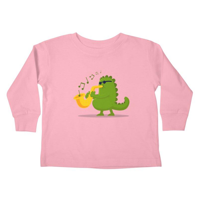 Dino Jazz Kids Toddler Longsleeve T-Shirt by scribblekid's Artist Shop