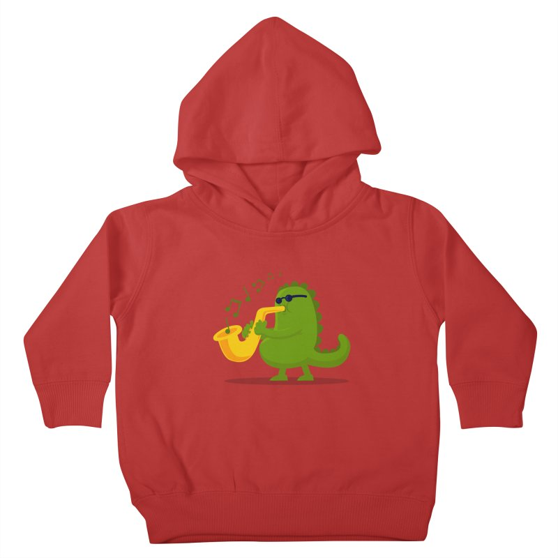 Dino Jazz Kids Toddler Pullover Hoody by scribblekid's Artist Shop