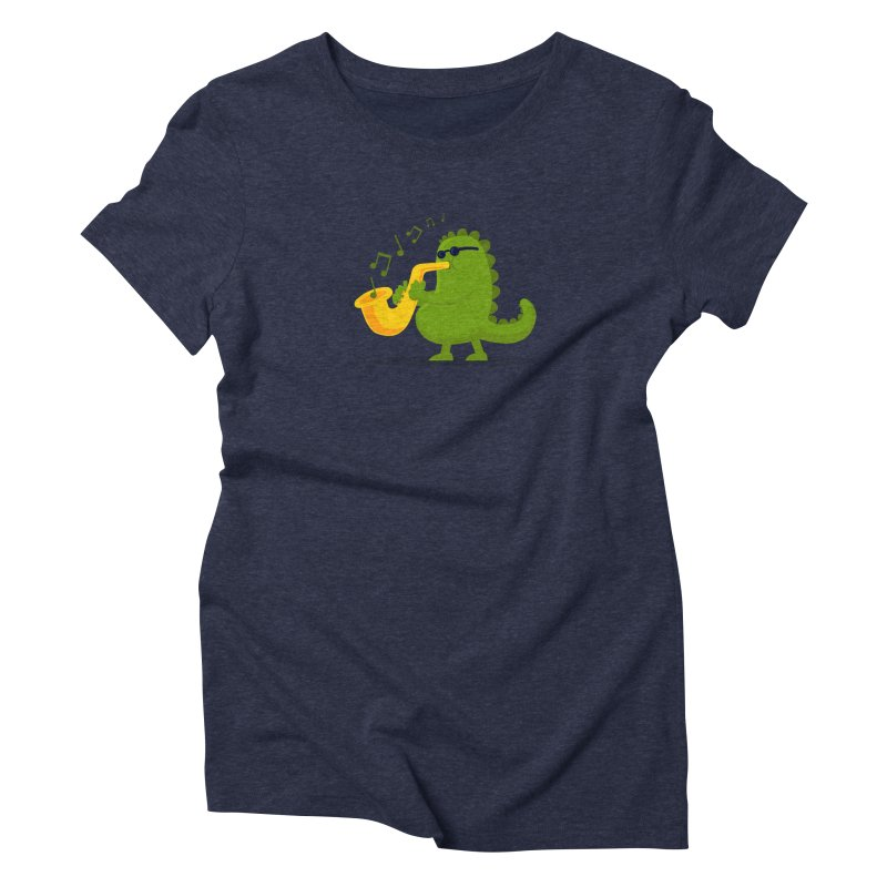 Dino Jazz Women's Triblend T-shirt by scribblekid's Artist Shop