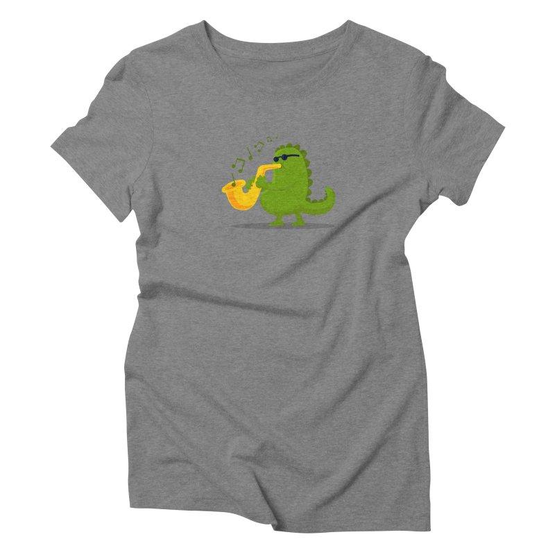 Dino Jazz Women's Triblend T-shirt by scribblekid's Artist Shop