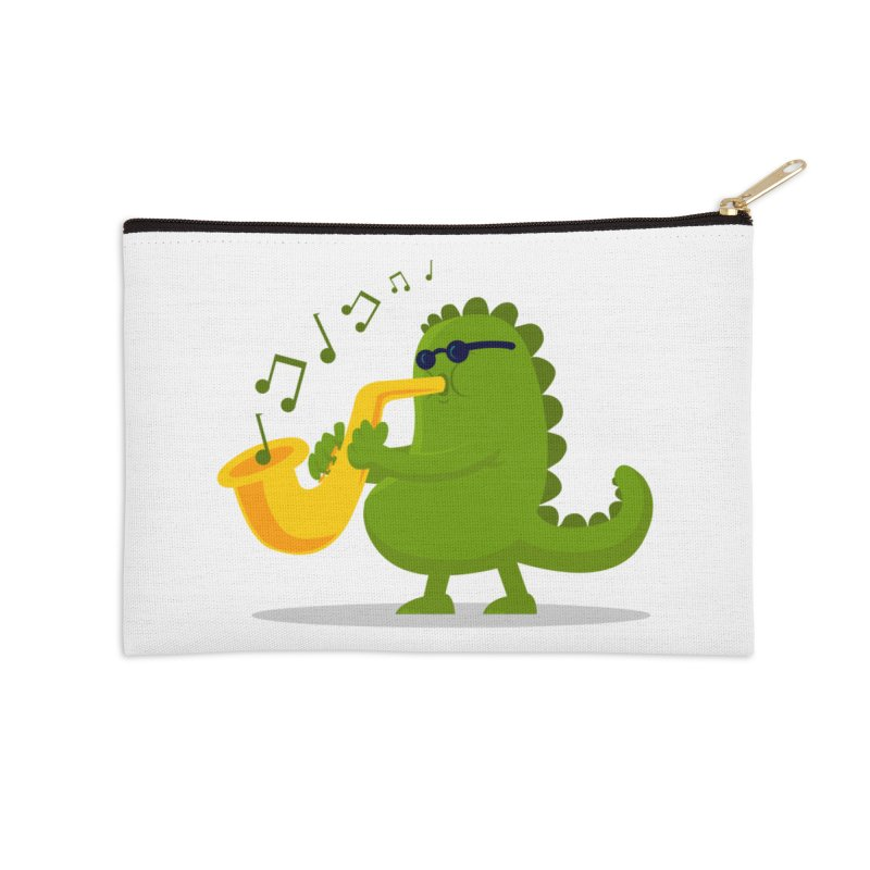 Dino Jazz Accessories Zip Pouch by scribblekid's Artist Shop
