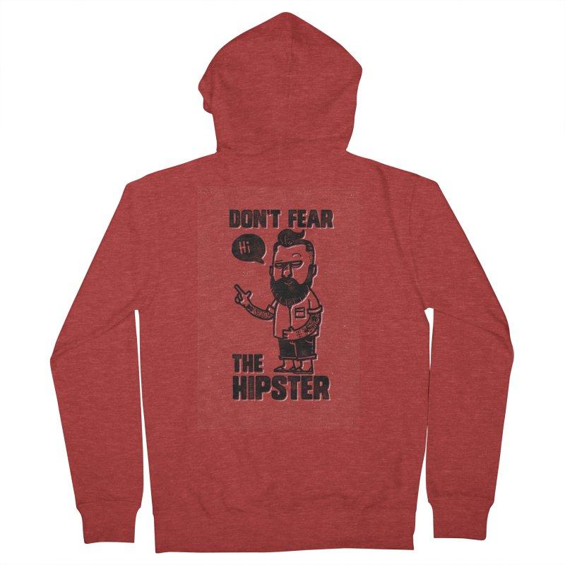 Don't Fear The Hipster Men's Zip-Up Hoody by scribblekid's Artist Shop