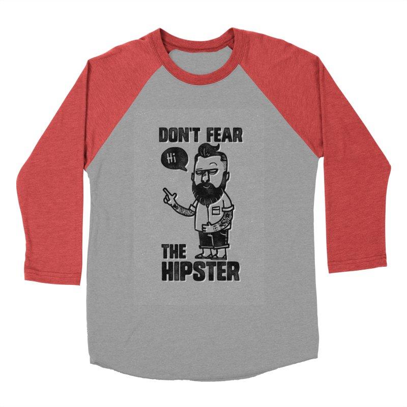 Don't Fear The Hipster Women's Baseball Triblend T-Shirt by scribblekid's Artist Shop